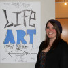 Senior Ashlie Moore partners with LIFE Art for capstone project