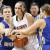 Claussen, Durand Lead SOU To National Quarterfinals With 81-70 Victory