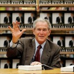 Former President George Bush at a book signing for his new memoir, Decision Points. Photo courtesy allvoices.com