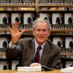 Former President George Bush at a book signing for his new memoir, Decision Points. Photo courtesy allvoices.com.