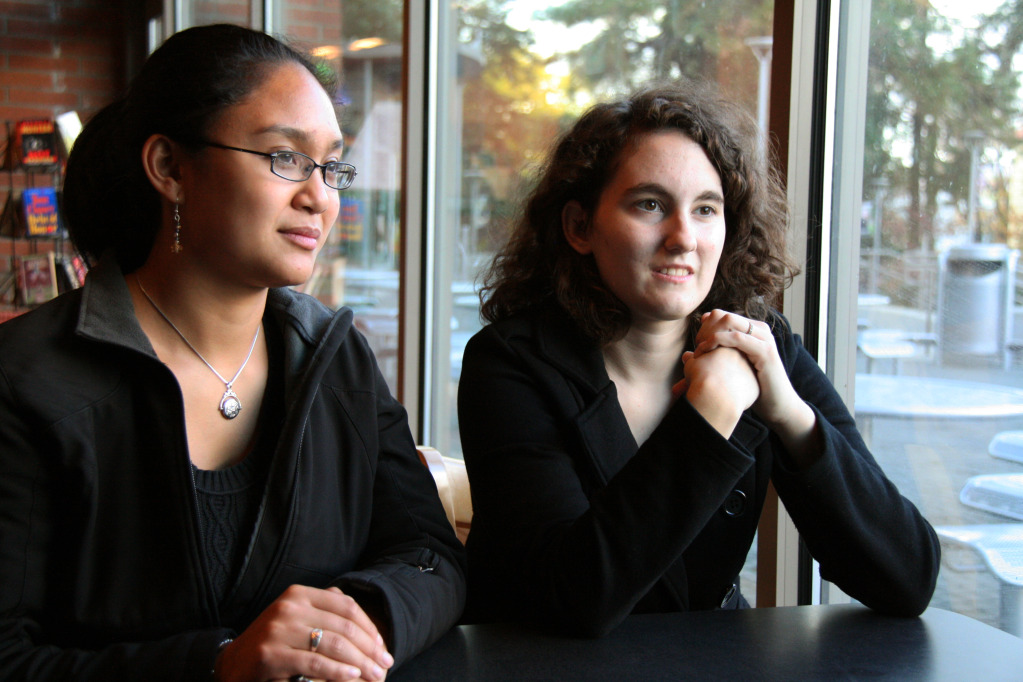 Beatriz Abella (left), an SOU senior, and Mandee Light (right), an SOU junior, will be performing at Carnegie Hall on Dec. 18. The pair were one of several first place winners chosen in the American Protégé International Music Talent Competition.