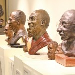 A collection of sculptures created by Ashland artist Meera Censor depicting famous humanitarians such as Gandhi, Mother Teresa, and others, is now on display at the Hannon Library, following a dedication ceremony on Nov. 4. Censor, a 66-year-old Ashland resident, began the 21-sculpture collection in 1997 with a bust of Gandhi.