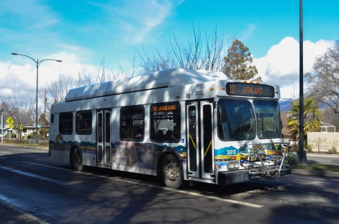 A RVTD bus making it's daily rounds. (Karoline Curcin/The Siskiyou)