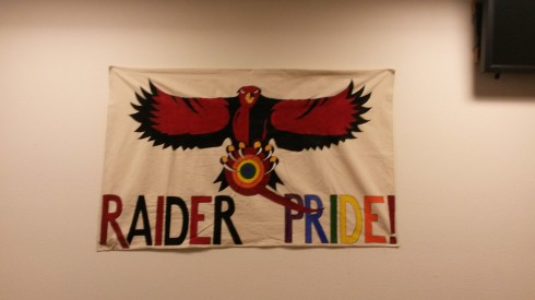 The raiders show their pride everyday at the QRC. Photo Cred: Karoline Curcin/The Siskiyou