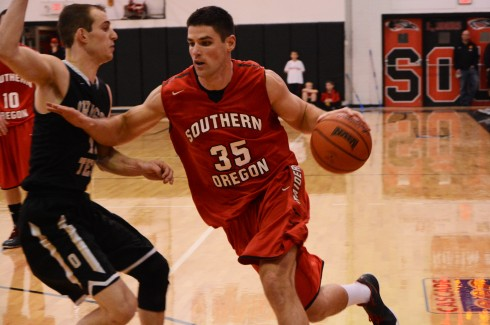 SOU Mens Basketball. (The Siskiyou/Robbie Wilkins)