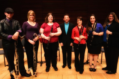The Cascade Clarinet Consort. Photo via Rhett Bender