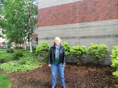 Linda Hugle, former principal of three different schools in the Three Rivers School District, speaks about the challenges SOU's retrenchment process may have on the college going rates of local residents. (Photo Cred: Tamara Henderson)