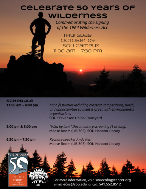 SOU celebrated 50 years of wilderness in an event on Thursday. (Photo Cred: ECOS)