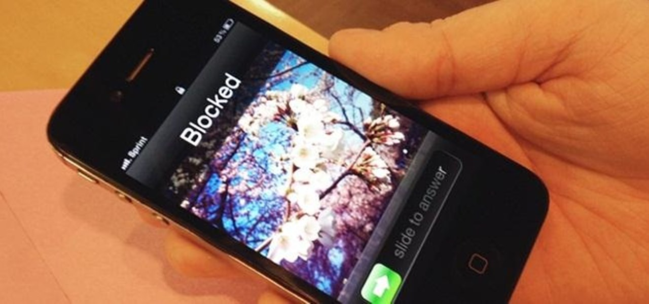 Blocking unwanted calls , cell phone signal blocking device